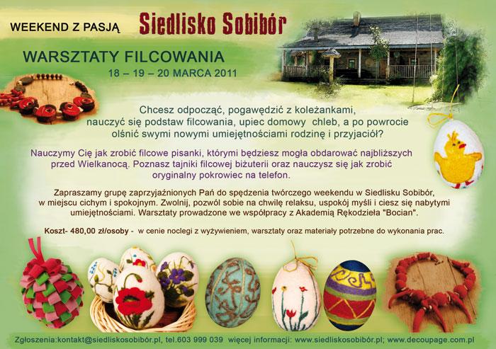 Weekend z pasją - warsztaty filcowania z Akademią Rękodzieła Bocian